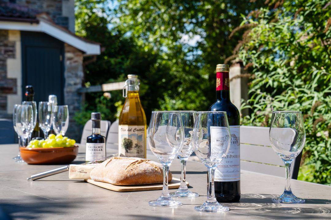 Lunch on sunny terrace